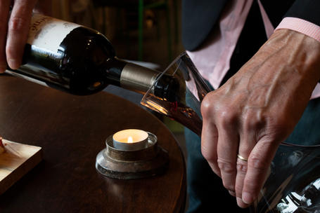 Continuous decanting of great wines at Remedy wine Bar.