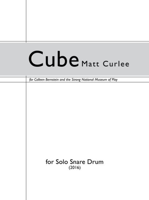 Cube (Solo Snare Drum)