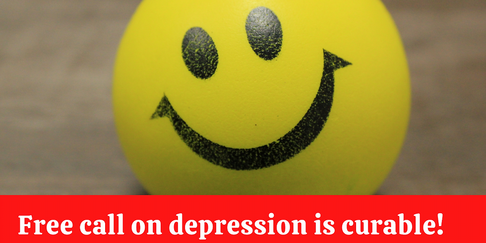 Free call on Depression Is Curable!