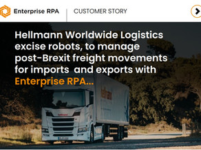 Reduce admin overheads for post-Brexit freight movements for imports and exports with Enterprise RPA