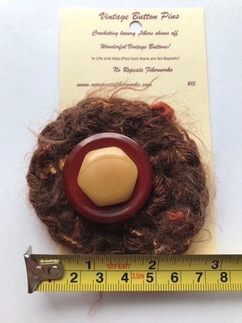 1.  Vintage Buttons on Mixed Fibers