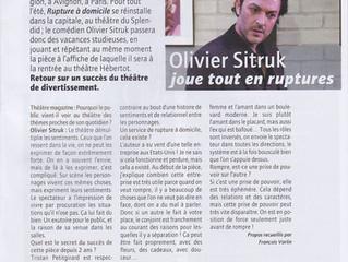 Olivier Sitruk joue tout en Ruptures