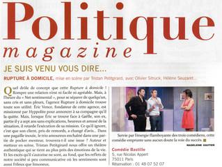 Article dans Politique Magazine