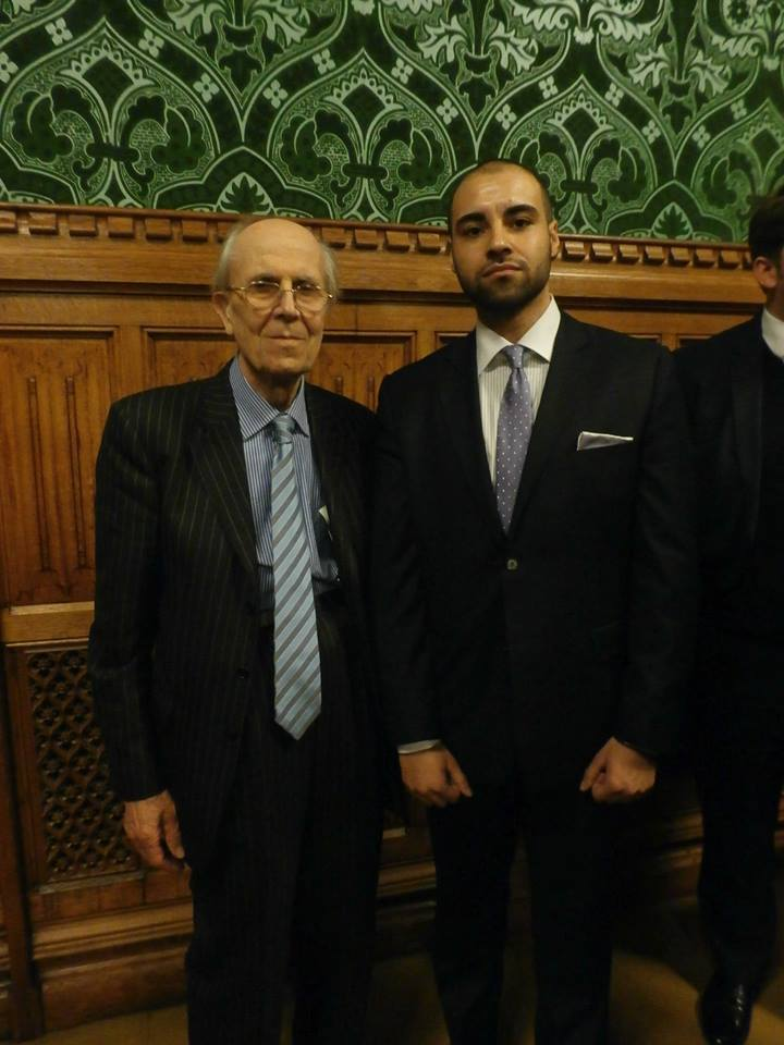 Adriel Kasonta with Norman Tebbit
