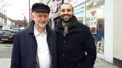 Adriel Kasonta with Jeremy Corbyn