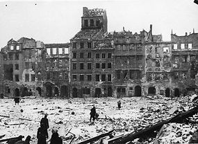 WWII destruction of Warsaw
