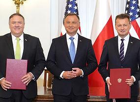 Mike Pompeo, Andrzej Duda, Mariusz Błaszczak - Poland