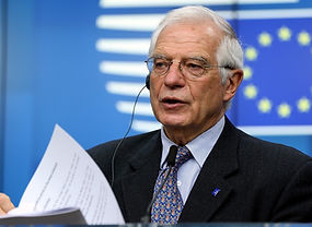 EU High Representative for Foreign Affairs and Security Policy Josep Borrell, shown here hosting a press conference in Brussels, Belgium, on December 9, 2019, has announced the bloc's new Indo-Pacific strategy