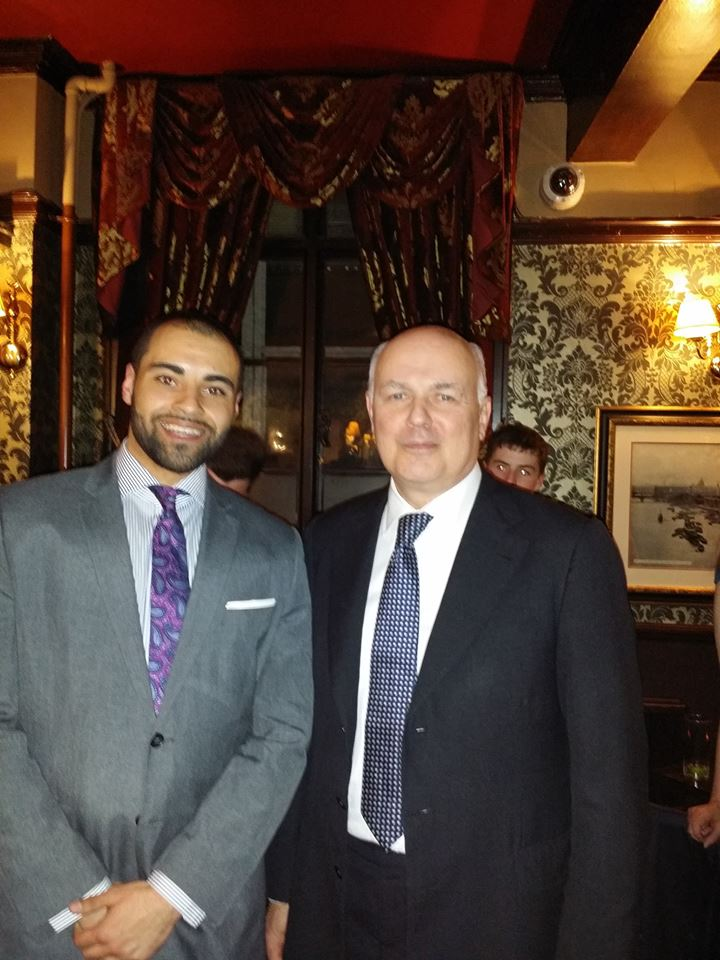 Adriel with Ian Duncan Smith