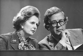 Margaret Thatcher and Geoffrey Howe