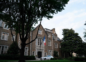The home of the French ambassador to the U.S., Philippe Etienne, is seen in Washington, D.C., the U.S., September 17, 2021