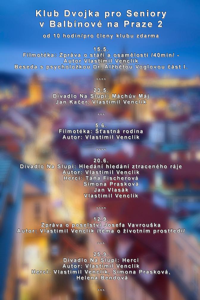Akce - Divadla Na Slupi a Art Botič - podzim / zima 2018