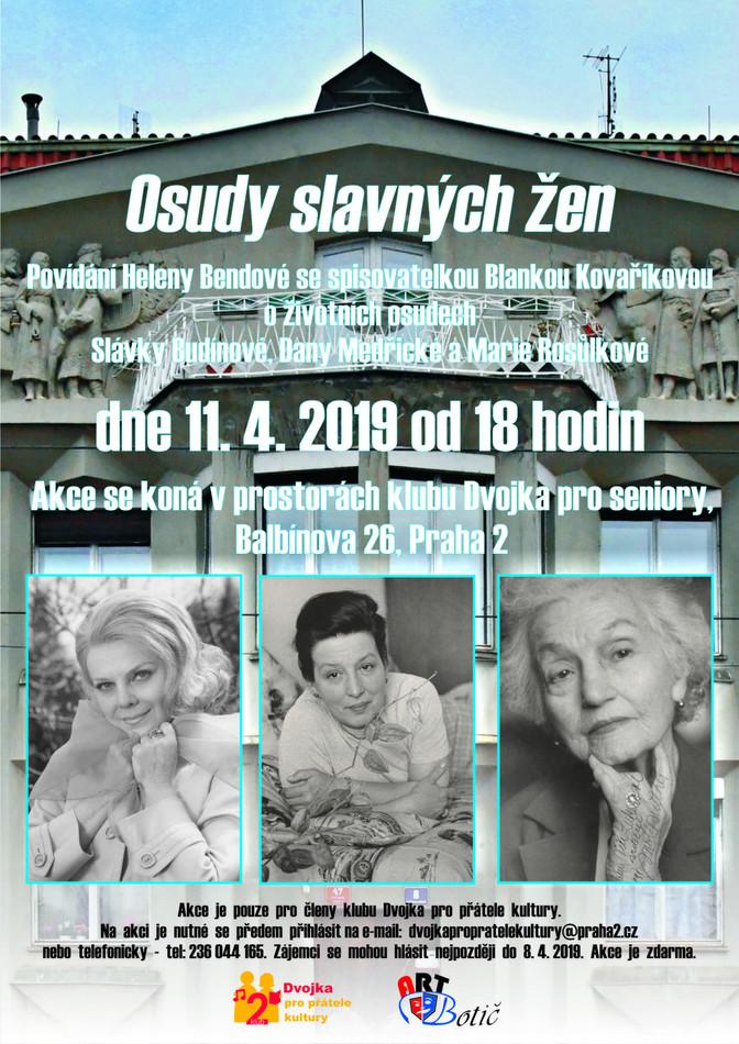 Osudy slavných žen - 11.4.2019 od 18,00