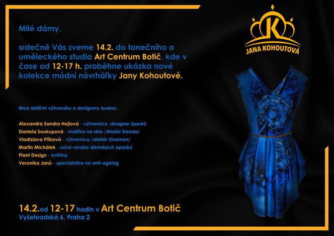 Nová kolekce Jany Kohoutové v Art Centrum Botič - 14.2.2020,