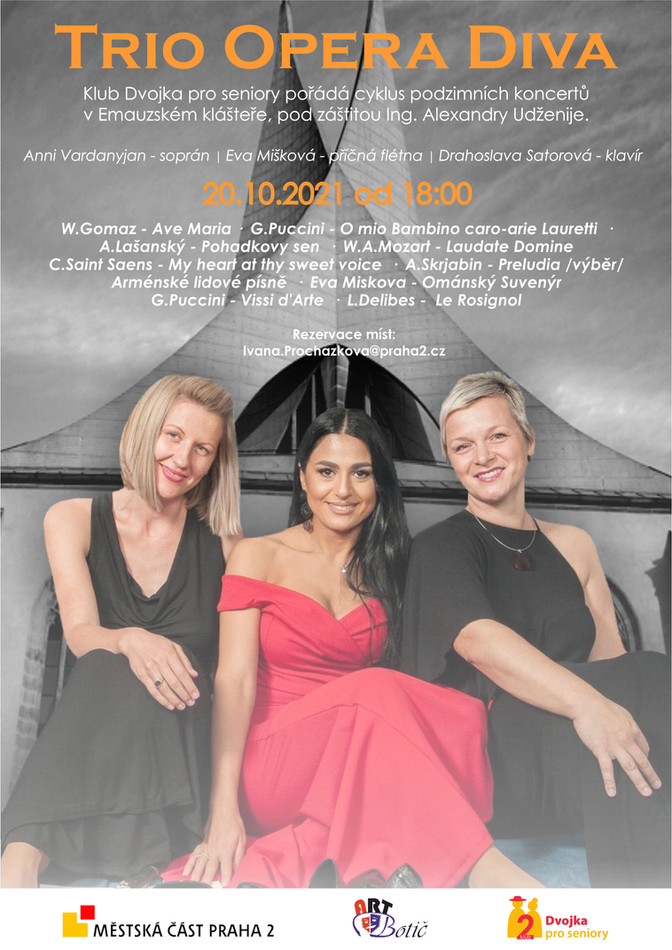 Trio Opera Diva - 20.10.2021, od 18,00