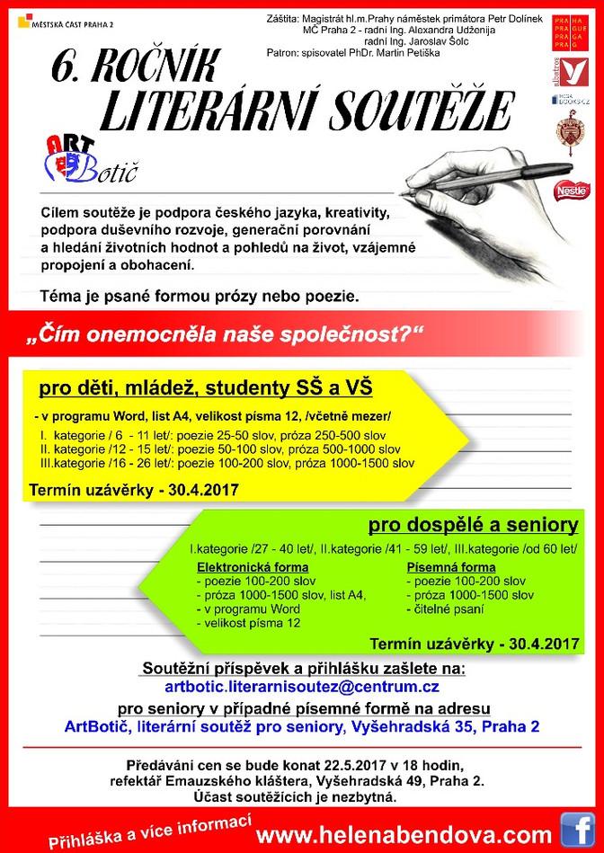 6. ročník literární soutěže Art Botič