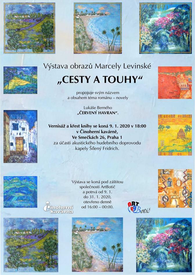 """""""Cesty a touhy"""" - výstava obrazů Marcely Levinské, 9.1.-31.1.2020"""