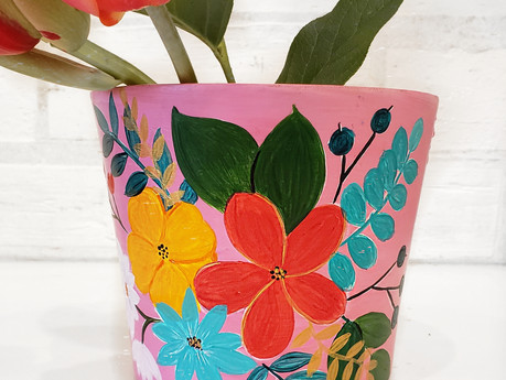 Paint your Pot with Wine & Design