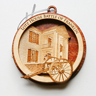 Battle of Franklin Solid Wood Christmas Ornament