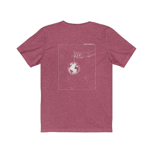 """Dead Poets Society Jersey Short Sleeve Tee """"barely.hanging.on"""""""