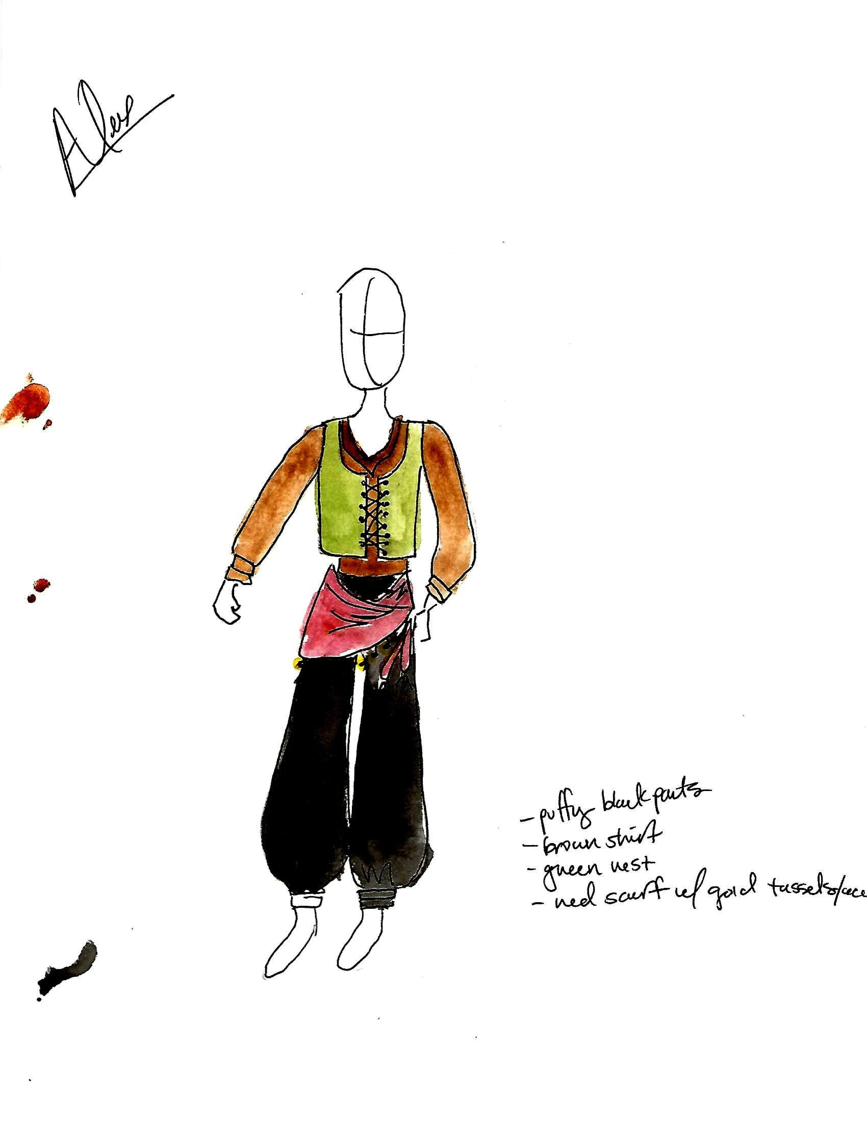 Costume design, Arabian Nights