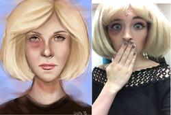 Audrey makeup design by Sapir Blain