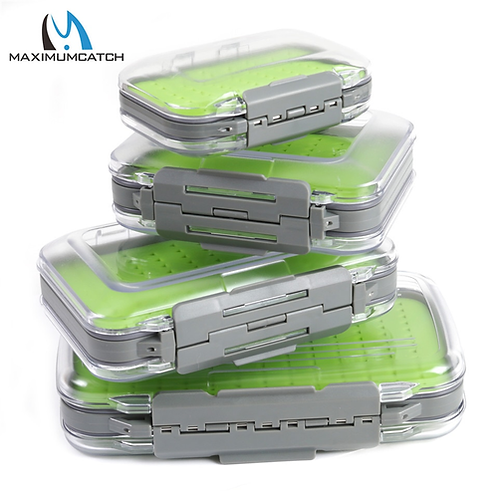 Maximumcatch Fly Fishing Box Easy-grip Silicone Insert Tackle Boxes Double Side