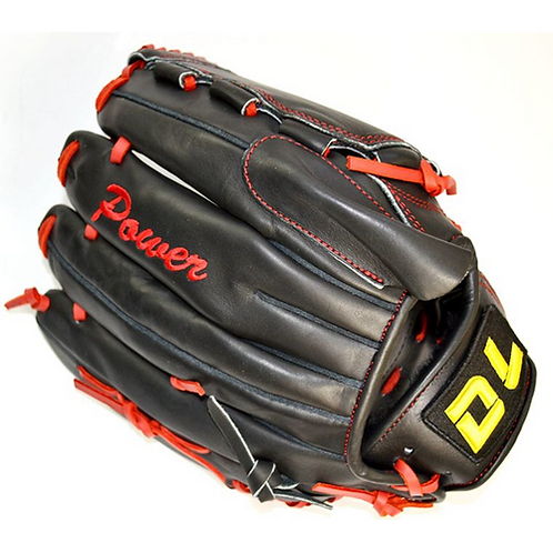 Top quality!DL 12 Inch Professional Left hand Black color Full cowhide Baseball