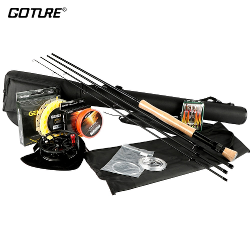 Goture Fly Fishing Rod and Reel Combo Set 5/6 7/8 Rod Combo with Fly Line Fly