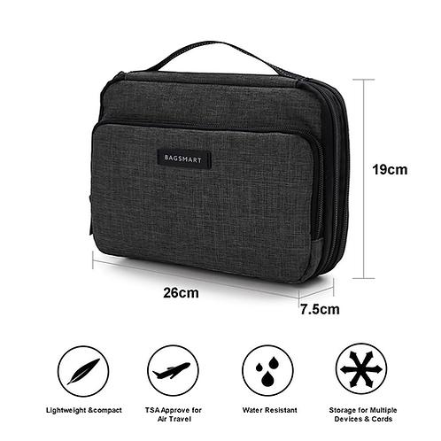 Bagsmart Travel Organizer Portable Bag Waterproof Travel Electronic Accessory