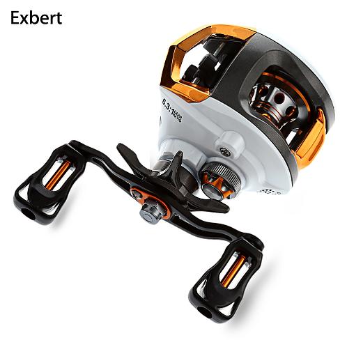 Exbert 12 + 1 Bearings Waterproof Left / Right Hand Baitcasting Fishing Reel Hig