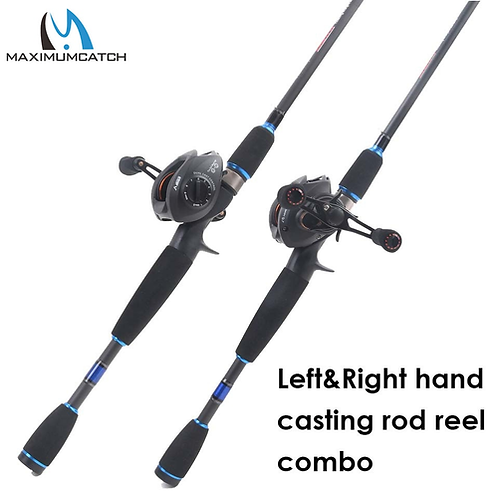 Maximumcatch 2.1M-2.4M Lure Weight 3-80g Portable Travel Bait Casting Rod Left