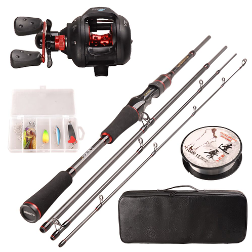 Smart Fishing Combo Set 1.98m Casting Rod 5BB Baitcasting Reel 100m Nylon