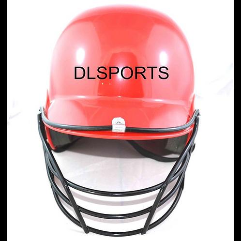 Professional Adults Softball Baseball Batting Helmet with Face Guard Black Hat