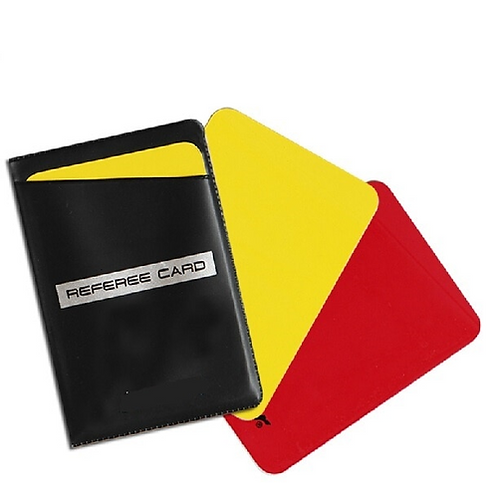 high quality Pro football soccer game match referee card umpire judge red yellow