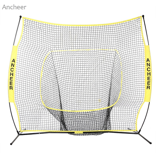 Durable 7 x 7ft Softball Baseball Practice Net with Bow Frame Compact Carrying