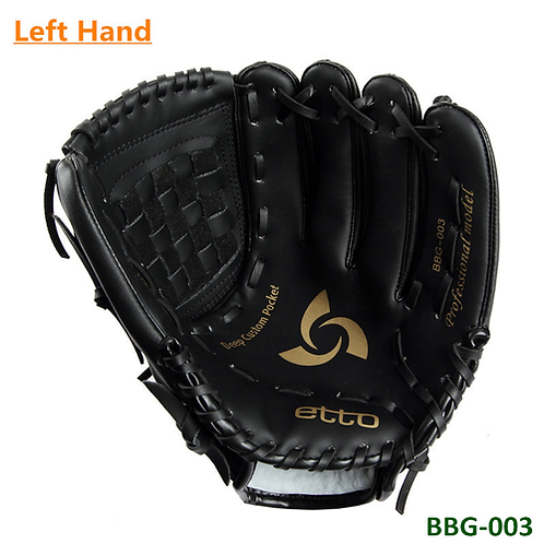 Black BBG-003 Professional Baseball Glove PU Material Softball Game Gloves 11.5
