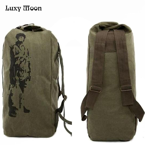 New 2018 canvas backpack High capacity bag casual backpack Army Bucket Bag