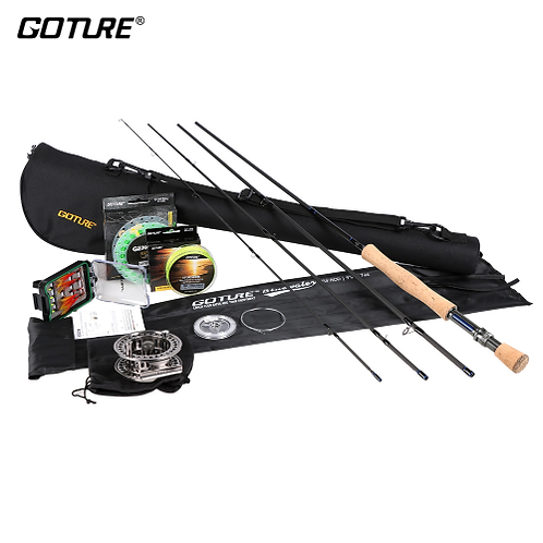 Goture Fly Fishing Kit 2.7M Fly Rod 5/6 7/8 CNC Fly Fishing Reel Rod Combo