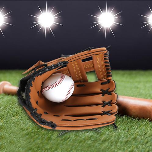 "PVC Leather Brown Baseball Glove 10.5""/11.5""/12.5"" Softball Outdoor Team Sports"