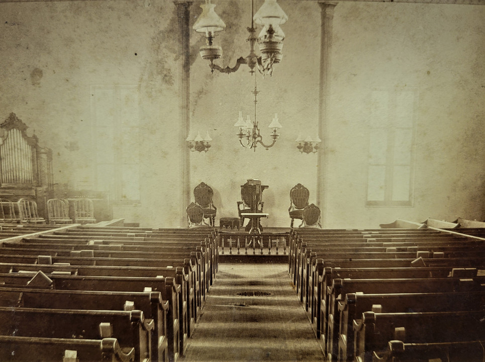 Innterior of 1833 Church