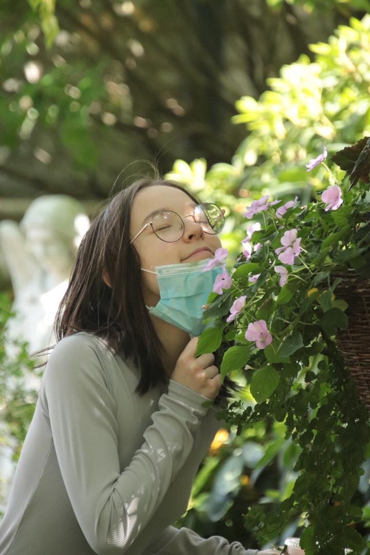 Smelling Flowers.JPG