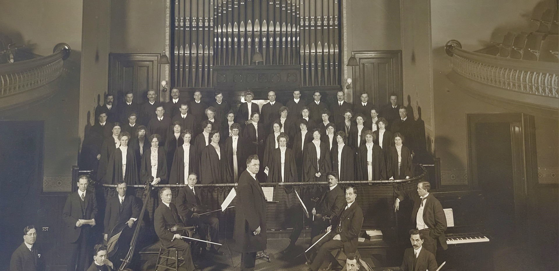 Choir and Orchestra 1914 Old Church