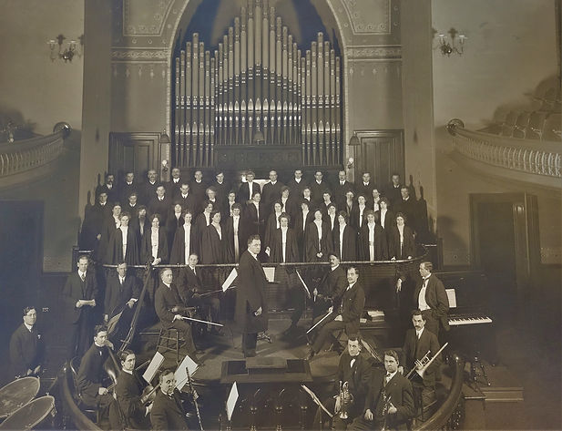 Choir and Orchestra 1914 Old Church 2 (2