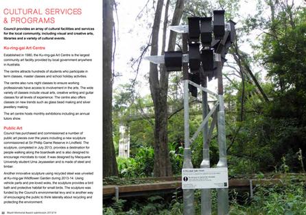 Sculptural Microbat Habitat - 2013/14