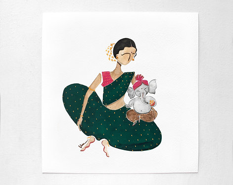 Parvati and Ganesh