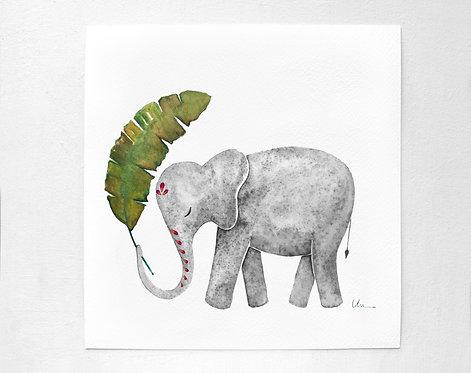 Banana Leaf Elephant
