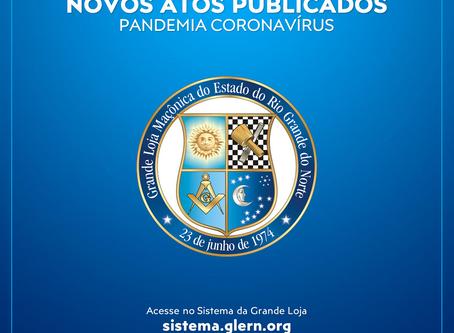 NOVOS ATOS DO GRÃO-MESTRE SOBRE A COVID-19