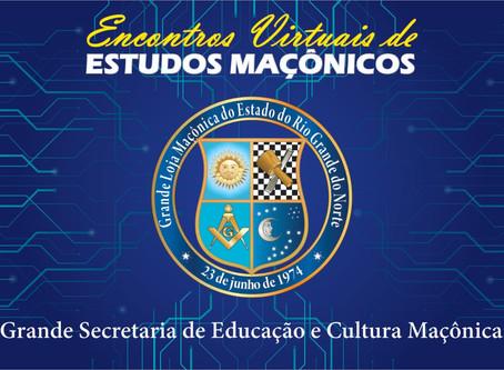 2ª EDIÇÃO DOS ENCONTROS VIRTUAIS DE ESTUDOS MAÇÔNICOS