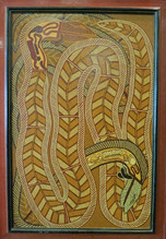 Two Eels - Art Collector Ronnie Heron -